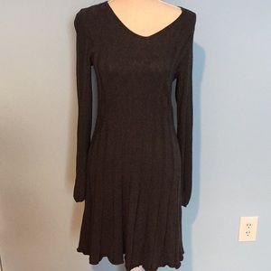 Max studio gray ribbed sweater dress size large