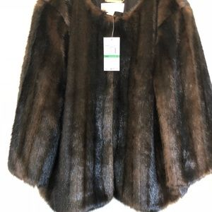 Michael -michael Kors faux fur mink jacket new
