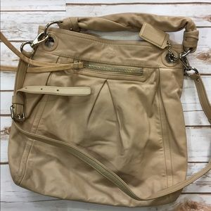 Coach Leather Hobo Bag Tan