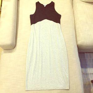 ATHLETA Black and Grey colorblock Dress