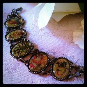Vintage Avon Christmas Panel Bracelet