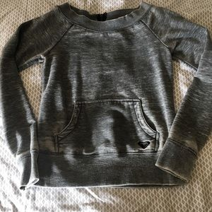 Roxy boatneck pullover with back zipper