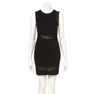 Dress Up Topshop Mesh Insert Bodycon Mini