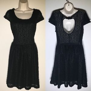 Jessica Simpson black fit and flare dress