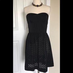 NWT Rebecca Taylor Strapless Blk Dress 6