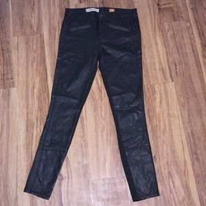 Anthropologie Green Skinny Pilcro Moto Pants  27