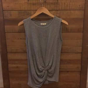 Grey Shirt with Knot Detailing