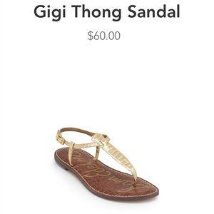 Sam Edelman Gold Gigi Sandals