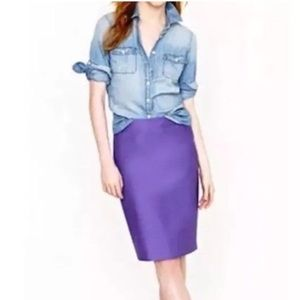 Jcrew No 2 pencil skirt in beautiful purple color!