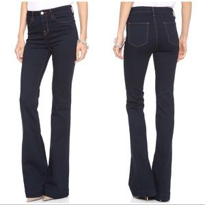 "J Brand ""The Doll"" Flares in Indigo"