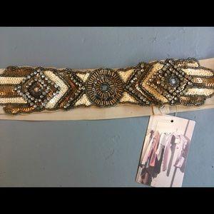 UO Art Deco inspired stretch belt