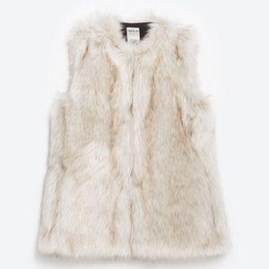 CLOSET CLEAROUT Zara faux fur vest