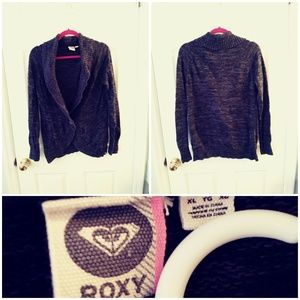 Vintage Roxy Sweater Cardigan with Buttons XL