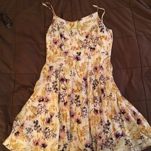 Purple and Yellow Floral Cami Dress