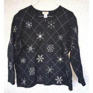 Snowflake Holiday Winter Blazer Jacket