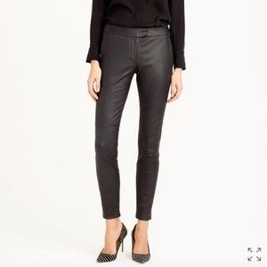 J. Crew Collection Leather Ryder Pants Size 4 NWT