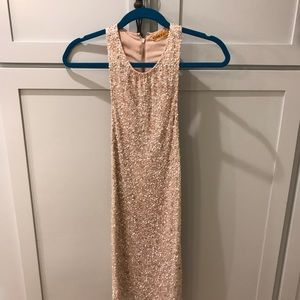 Alice + Olivia Champagne Sequin Cocktail Dress