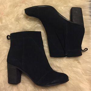 Toms Black Suede Lunata Ankle Boot