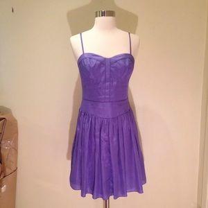 NWT Rebecca Taylor Lilac Silk Tunic Size 6