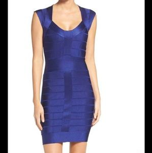 French Connection Bandage Dress in Maya Blue