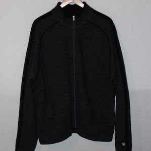 Kuhl full zip 100% fine merino wool jacket