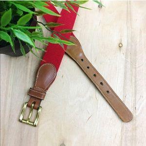 Vintage dooney & bourke red belt