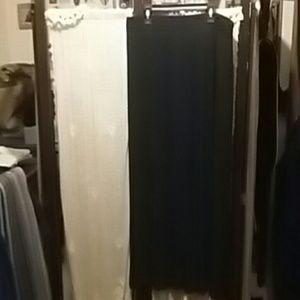 Skirt  black pleated sheer outside short  skirt un