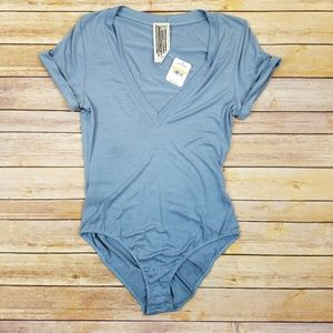 NWT Free People blue bodysuit