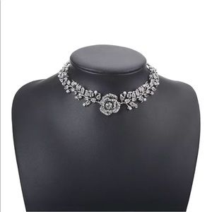 Jewelry - New! Crystal Rose Choker Necklace
