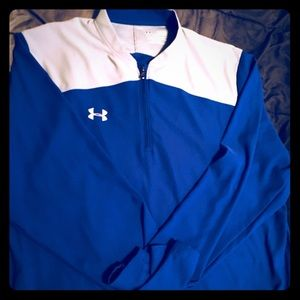 Royal Blue and Gray Under Armour Pull over