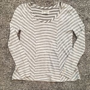 Anthropologie Saturday Sunday gray striped top