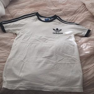 Adidas black and white short sleeve top