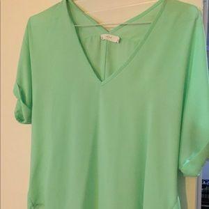 Nordstrom Lush dress shirt, lime green size S