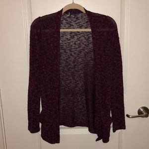 Heathered Maroon Cardigan from Urban Outfitters!