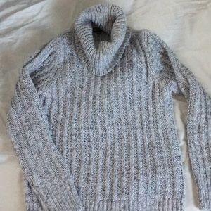 Banana Republic Grey ribbed turtleneck sweater!