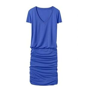 Athleta Royal Blue Topanga V-Neck Tee Dress Size S