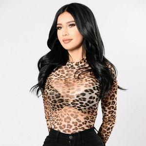Fashion Nova licious' leopard body suit size S