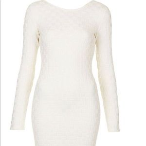 Topshop long sleeve, textured bodycon dress