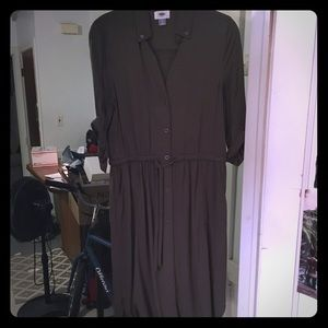 Military-Style Button Up Dress