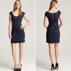 REBECCA TAYLOR Corset Waist Linen Blend Dress