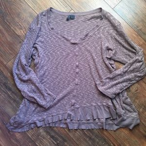 Anthropologie Left of Center long sleeve top