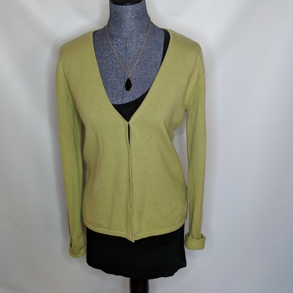 Ellen Tracy - Lime Green Cashmere Sweater from Lucia's closet on ...