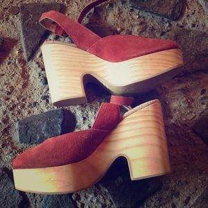 Free People Wooden Platform Heel