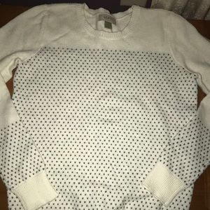 Ivory LOFT sweater- worn once!