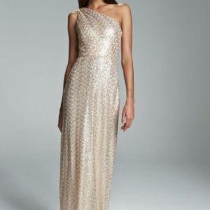 Gorgeous NEW Leona Amsale Golden Bridesmaids Gown