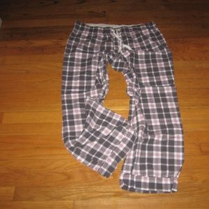 Flannel Red Gray Plaid Pajama Lounge Pants XL EUC