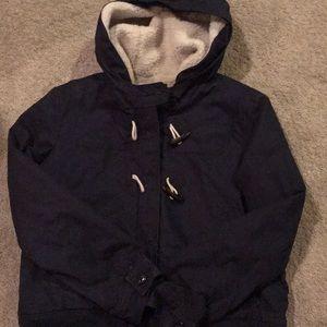 Winter coat, navy blue