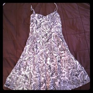 Black and White Floral Cami Dress