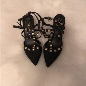 BCBG Paris Black Studded Heels