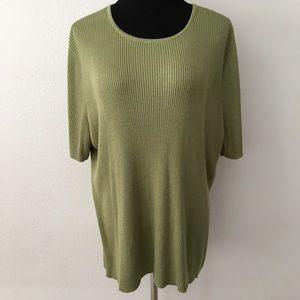 🆕 Croft & Barrow | Green Short Sleeve Sweater Top